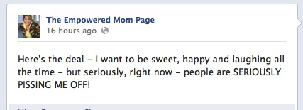 The Empowered Mom Page on Facebook